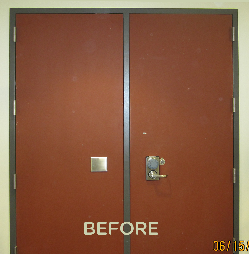 Picture16 Picture26 3M-Wrap-Double-Door-Before ... & 3M Door Wrap - Palmers Security Solutions