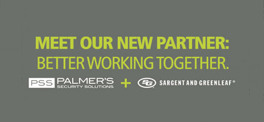 Partnership logos of PSS and Sargent and Greenleaf