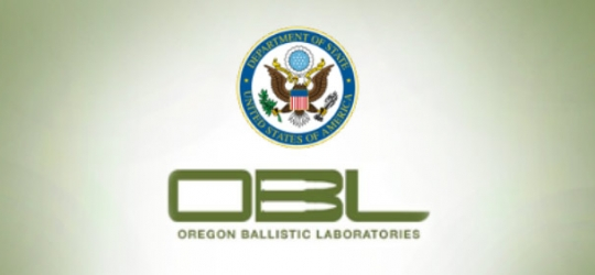 Oregon Ballistic Laboratories Approved with Department of State logo